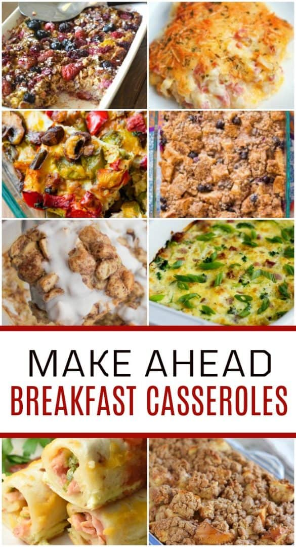 Head back to school with ease by having these make ahead breakfast casserole recipes on hand. Perfect for busy mornings and busy moms!