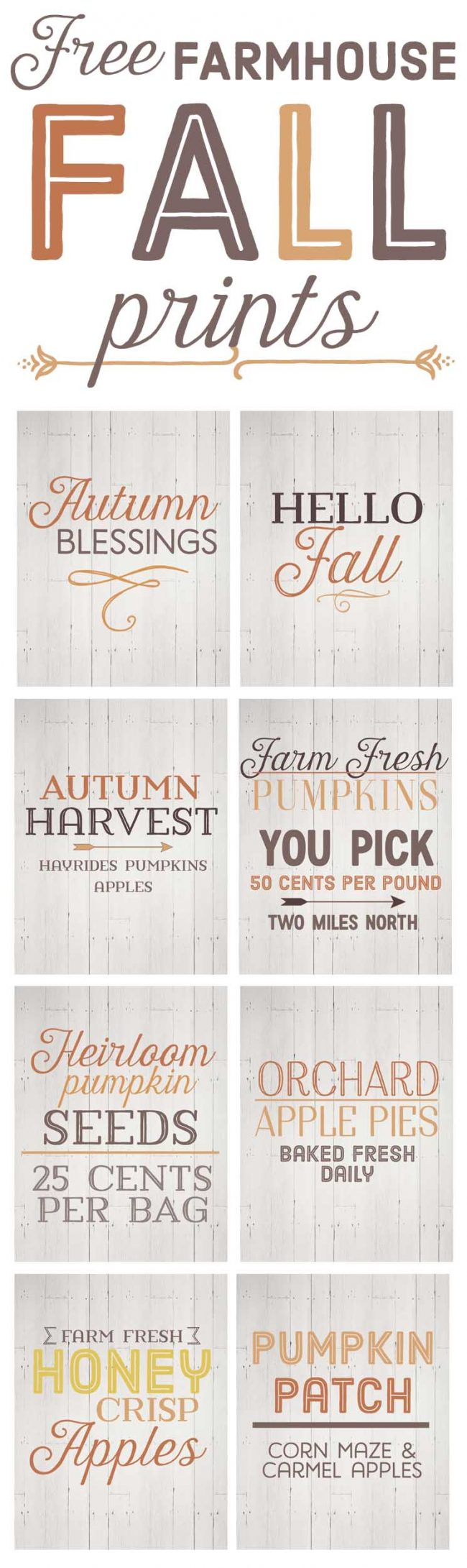picture relating to Free Fall Printable called Totally free Farmhouse Slide Printables for the Farmhouse Associate!