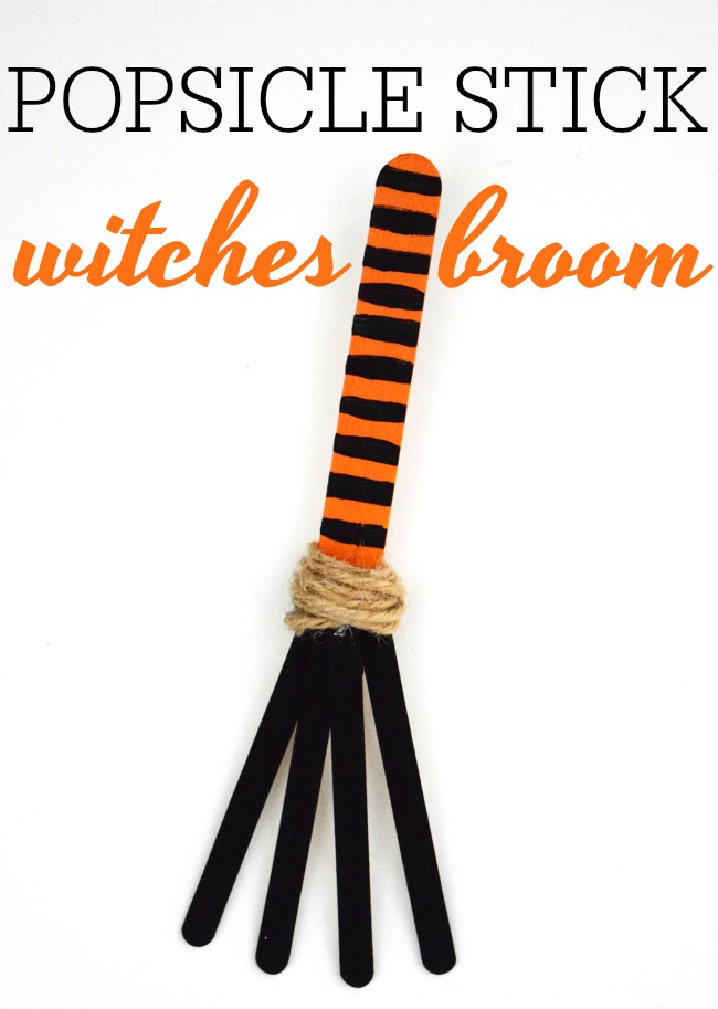 Learn how to make this super simple and cute popsicle stick witches broom. Pair it with one of our favorite Halloween books, Room on the Broom.