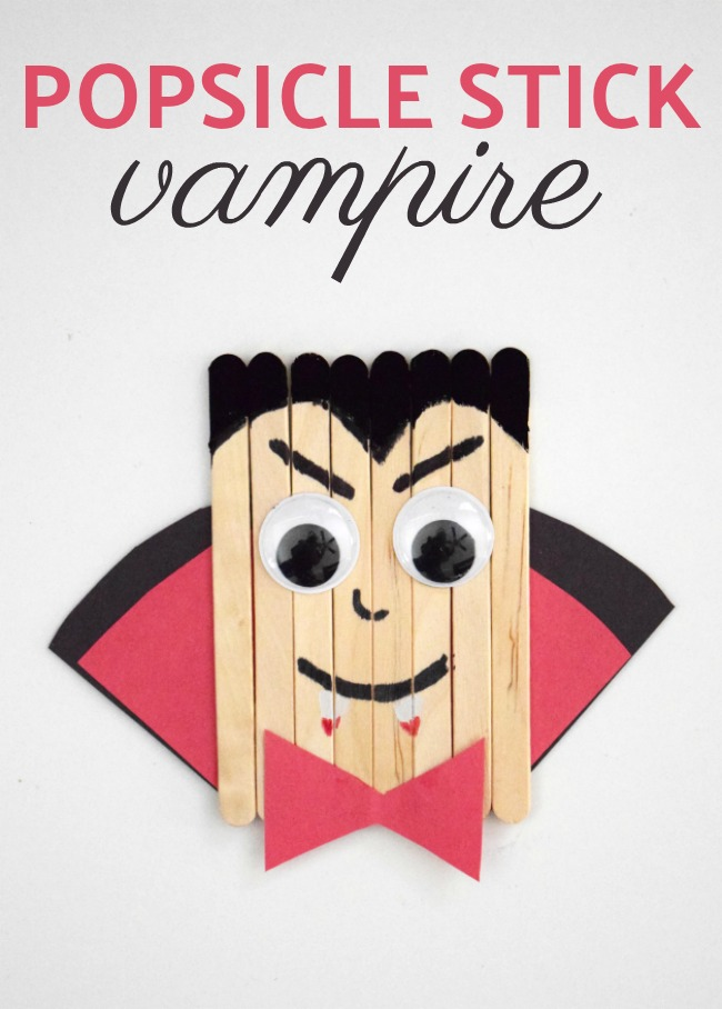 This popsicle stick vampire embodies the spirit of Halloween. Learn how to make this simple craft stick piece for kids.