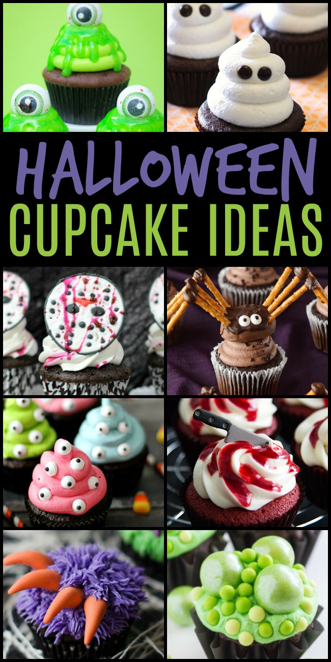 Halloween Cupcake ideas are a must for a frightfully fun Halloween Party.These spooky cupcake recipes & ideas make Halloween so much sweeter for everyone. #Halloween #Cupcakes #CupcakeIdeas #treats #partyfood #HalloweenParty