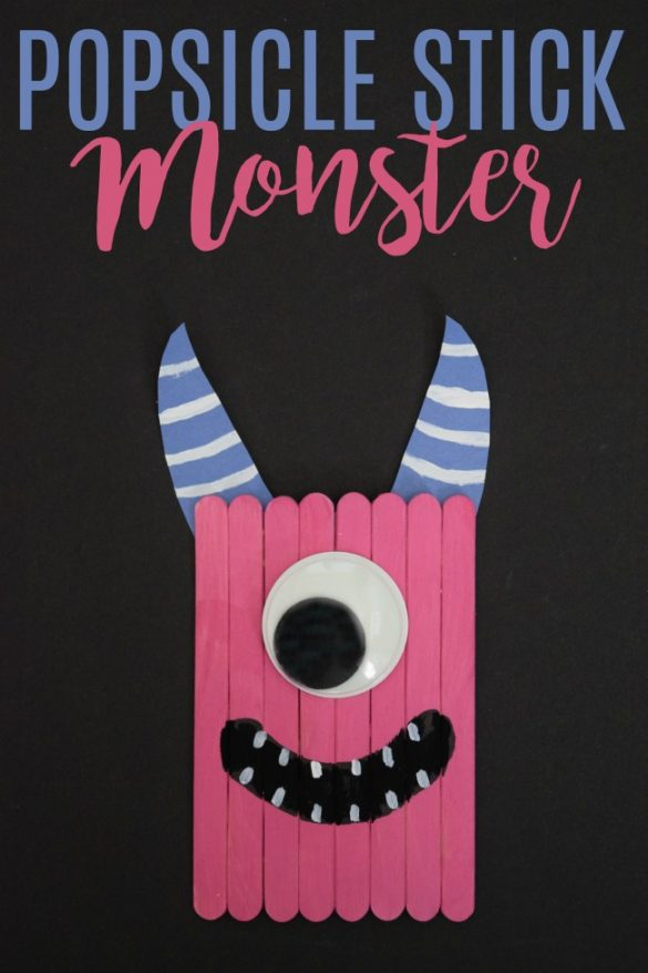 Create this popsicle stick monster craft to go along with a fun Halloween book, The Spooky Wheels on the Bus.