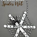Popsicle stick spider web, the kids will love helping to create these fun web using craft sticks and yarn. Hang several in a window for a fun touch.