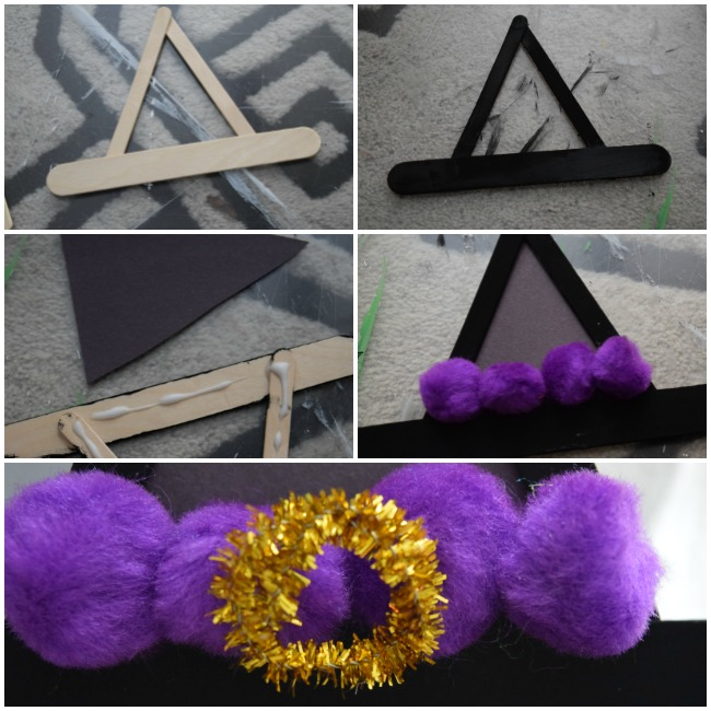 The popsicle stick witches hat, as an iconic symbol of Halloween this witches hat craft is perfect for crafting with your kids this season.