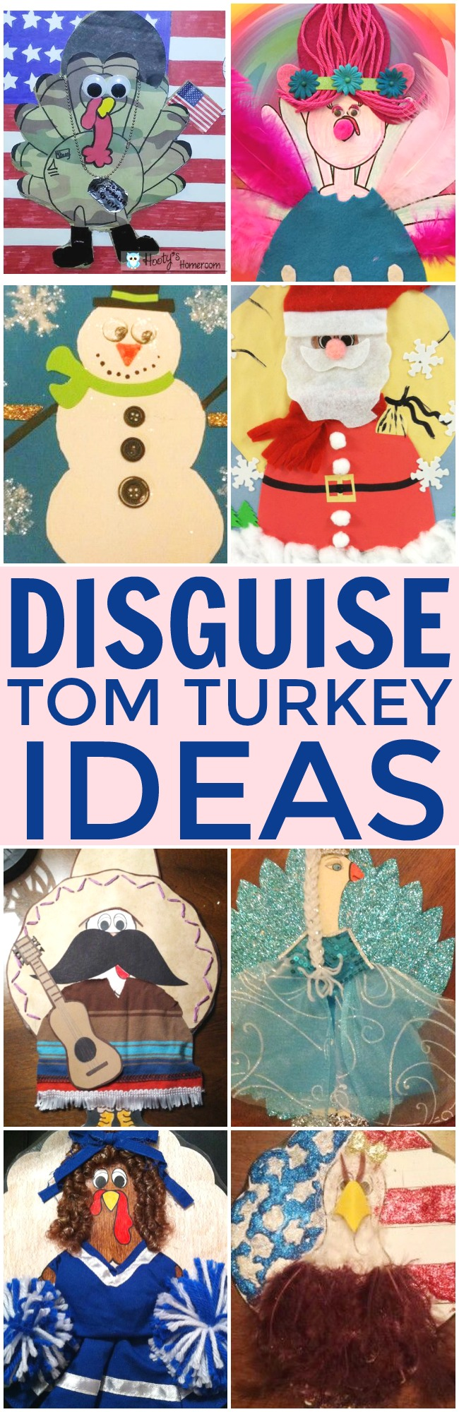 Help save Tom from getting eaten this Thanksgiving with these fun ideas to disguise Tom turkey. A great imaginative craft for the whole family. #Thanksgiving #TurkeyDay #DisguiseTomTurkey #DisguiseTurkey