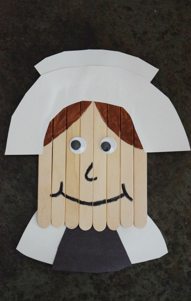 Keep the kids out of the kitchen and entertained this Thanksgiving with a fun Popsicle Stick Pilgrim craft. Just a few simple supplies are all you need!