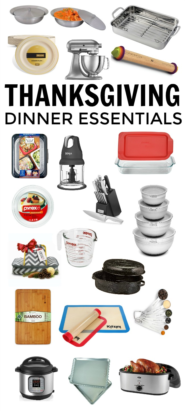The guests are invited, the menu is planned but what are you forgetting? Make sure you have all the Thanksgiving dinner essentials you need with this must-have list.