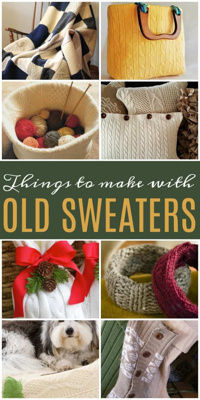 Don't throw out those old sweaters! Learn how to make new things from them with these awesome DIY ideas. #UpcycledCrafts #OldSweaters #Upcycled
