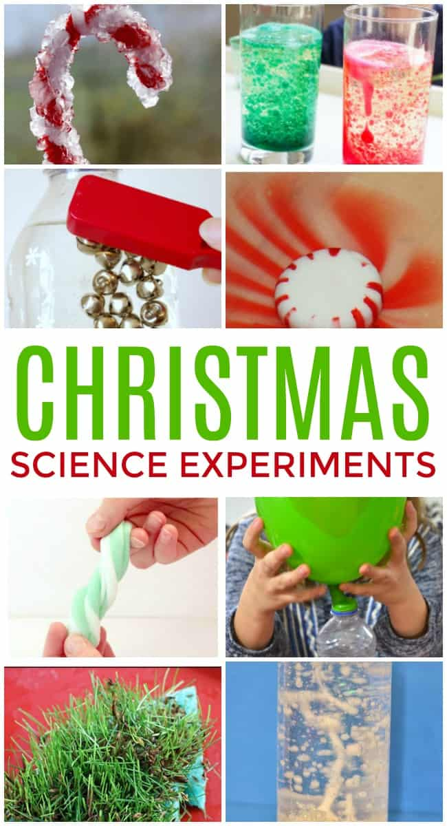 These Christmas science experiments are jam-packed with fun and exciting ideas to make this holiday season filled with wonder and exploration. #Christmas #ScienceExperiments #Science #STEM #STEMactivities