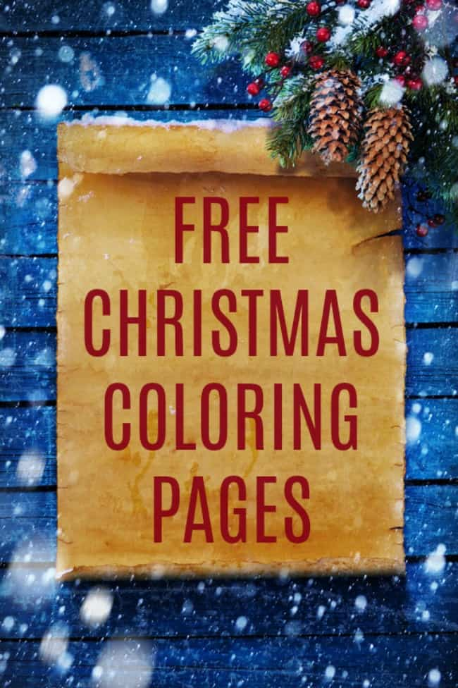 These Free Christmas Coloring Pages are a great way to keep your kids (or even yourself) occupied this busy holiday season. Check out all these cute options from Santas and Snowmen to nativities and yes even the Elf on the Shelf. #ChristmasColoringPages #ColoringPages #Coloring #Christmas