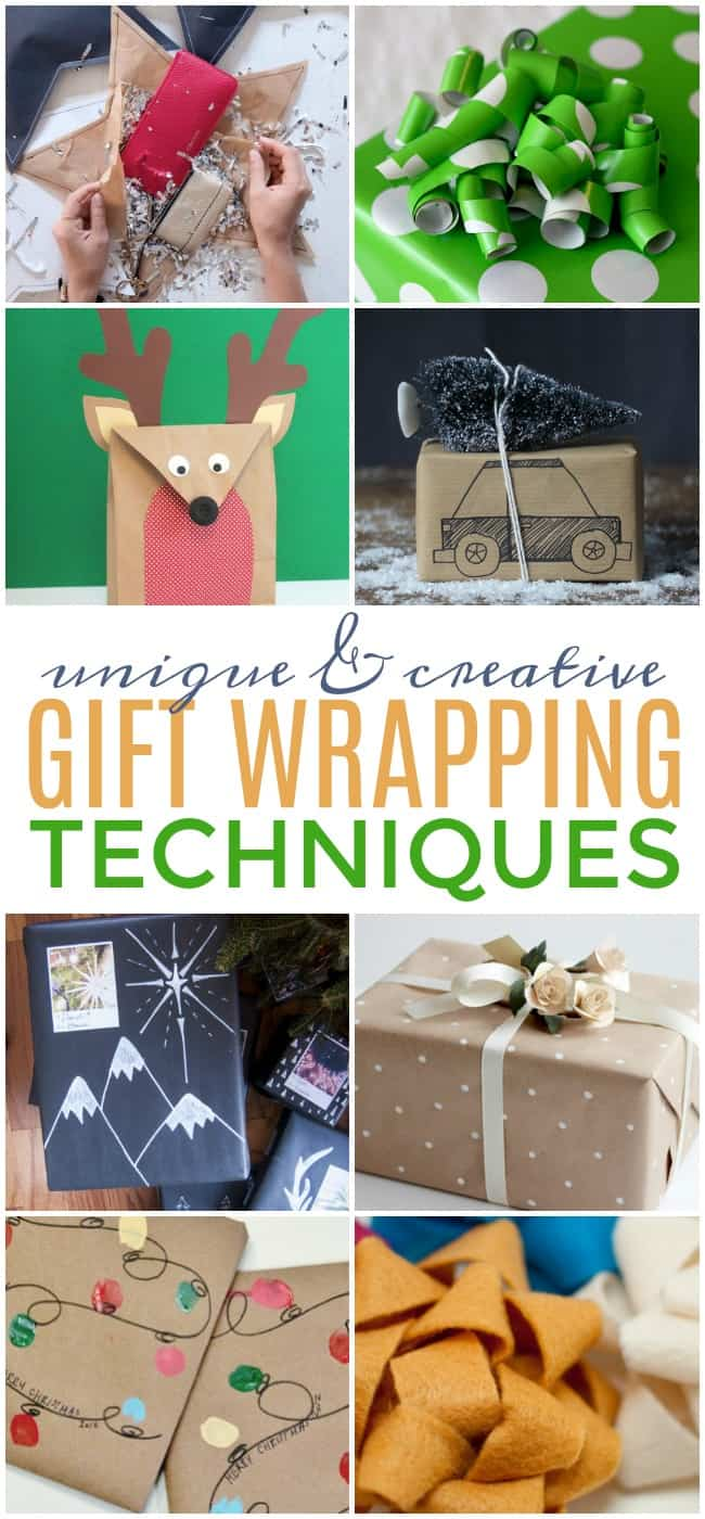 These gift wrapping techniques are perfect to make the gifts you're giving this year truly one-of-a-kind. Give your gifts the star treatment. #GiftWrapping #GiftIdeas #GiftGiving #GiftWrappingTechniques #gifts