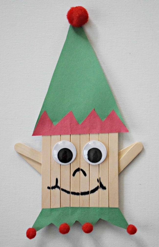 Popsicle Stick Elf Craft