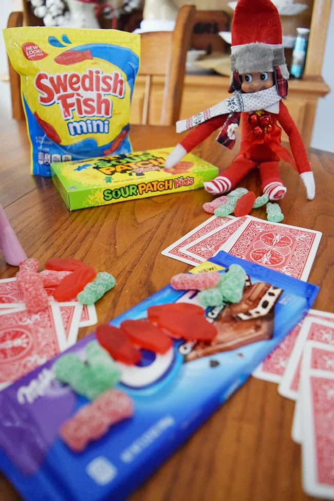 Countdown to Christmas with your silly mischievous elf and this fun candy countdown idea. #CandyCountdownAtWalmart #ElfontheShelfIdeas #ElfontheShelf