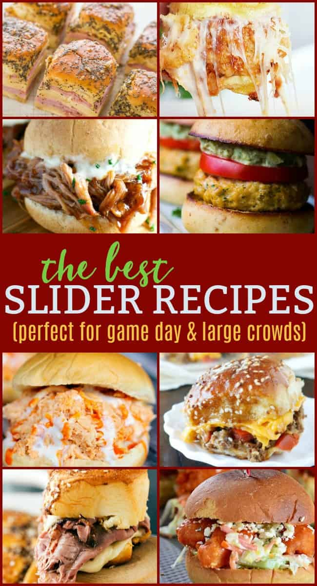 Looking for the best slider recipes? Today we have some of the best mini burger and slider recipes that are some of the top rated and pinned around the web. A tiny sandwich with a big tasty bite and a whole lot of fun. #BestSliderRecipes #SliderRecipes #Sliders #GameDayRecipes #Appetizers