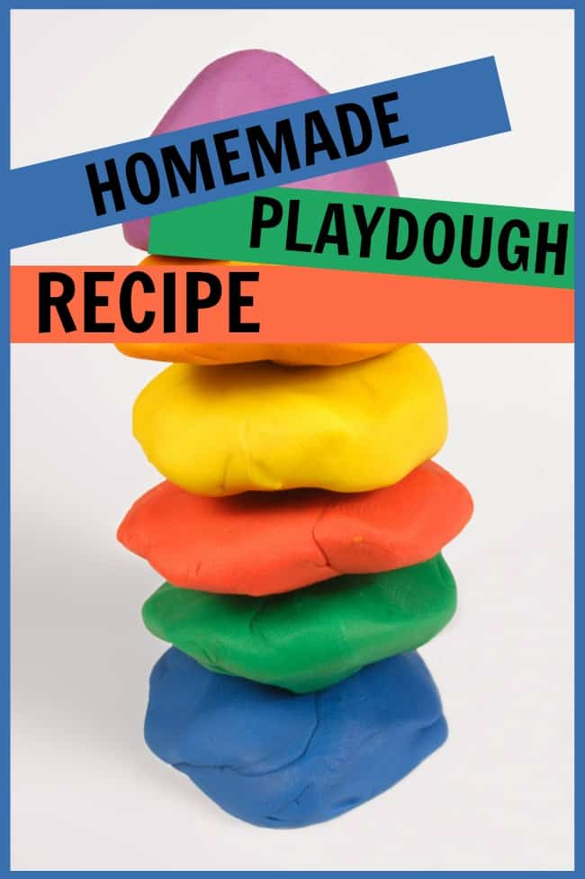 This homemade playdough recipe is perfect for entertaining children, especially during these cold winter days. Loads of fun that takes less than 10 minutes for one batch. #HomemadePlaydoughRecipe #HomemadePlayRecipes #PlayRecipes #Playdough #HomemadePlaydoh