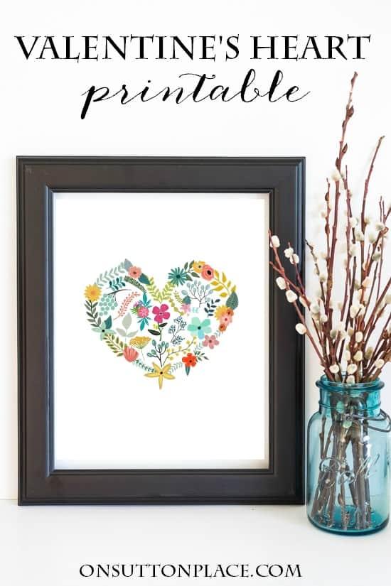 Free Valentine Printables - Farmhouse Style Free Printable Valentine's Day Decorations