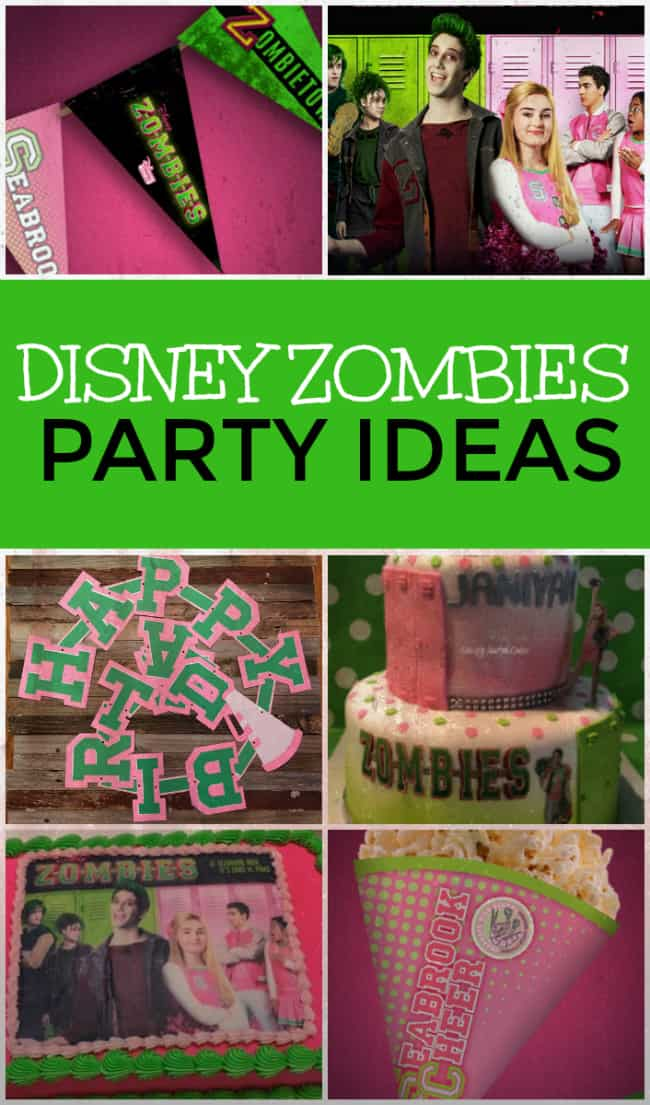 Get ready for your next undead bash with all of these awesome Disney Zombies party ideas. Are you team Zoms or team Poms? #Disney #DisneyZombies #Zombies #PartyIdeas #ZombiesParty