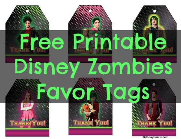 Disney Zombies Birthday Disney Zombies Party Supplies Disney Zombies Shirt