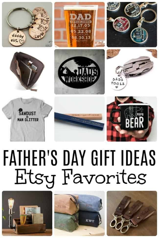 Your Dad is the best so he deserves the best. Let your Dad know how much he means to you with one of these Father's Day Gift Ideas from Etsy. Etsy always has some of my favorite thoughtful gifts.  #FathersDay #EtsyGifts #EtsyFathersDay #FathersDayGiftIdeas