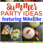 Summer parties are always the most anticipated events of the year. Make your party count with special touches like these summer party ideas featuring Mike and Ike MegaMix Sours including mini popsicle cupcake toppers and candy infused drinks. #Summer #PartyIdeas #SummerParties #MikeandIke #Colorful