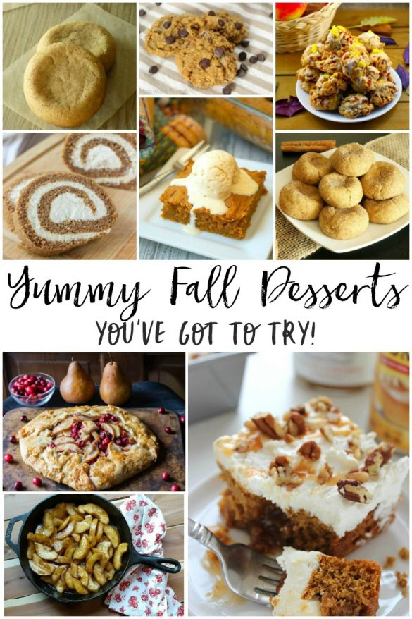 Capture thesweet and yummy flavors of the fall season in recipes for pumpkin pies, spice cookies, cranberry galettesandmany morefall desserts.With pumpkins and apples all ripe and ready for the picking, it's aperfect time to make some sweetdesserts and festive treats.