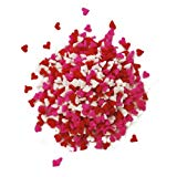 Dress My Cupcake DMC27261 Decorating Edible Cake and Cookie Confetti Sprinkles, Mini Valentines Hearts, 2.8-Ounce