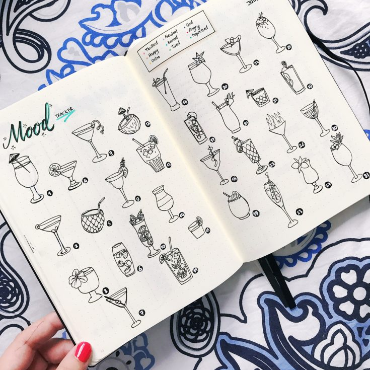 Summer Cocktails Mood Tracker