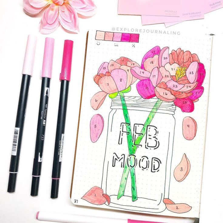 Flower Petals Mood Tracker
