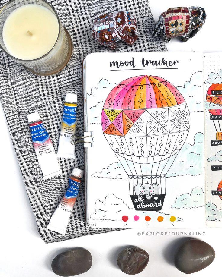 Hot Air Balloon Mood Tracker