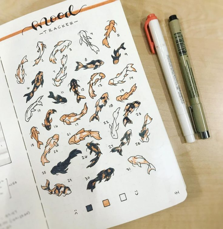 Koi Fish Mood Tracker