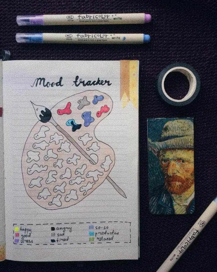 Paint Palette Mood Tracker