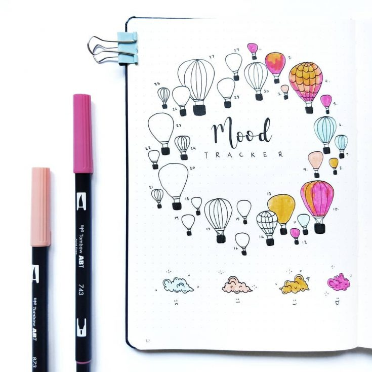 Hot Air Balloons Mood Tracker V2