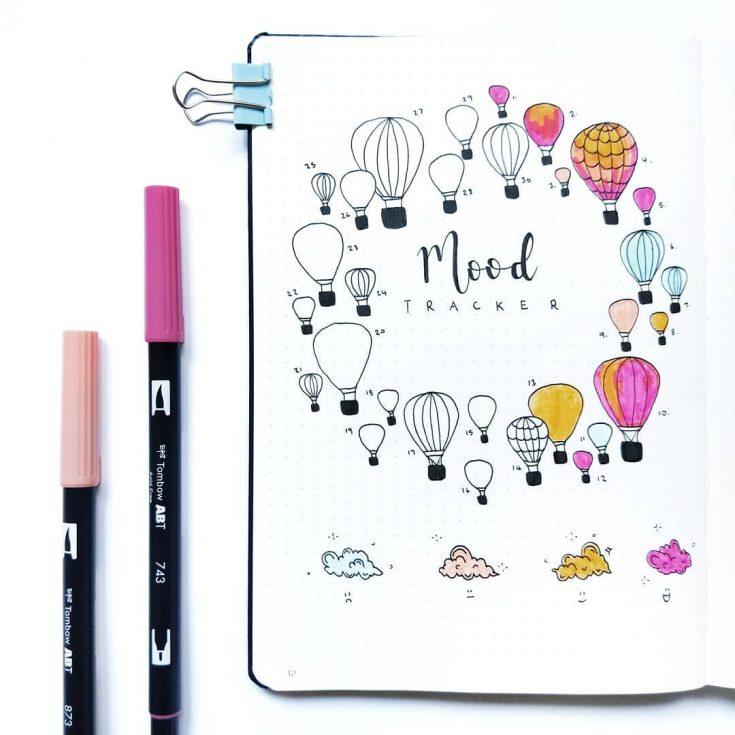 Hot Air Balloons Mood Tracker V2