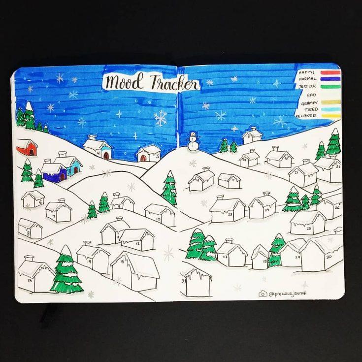 Winter Scene Mood Tracker
