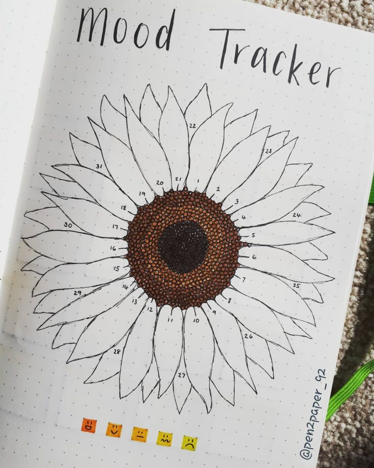 Sunflower Mood Tracker