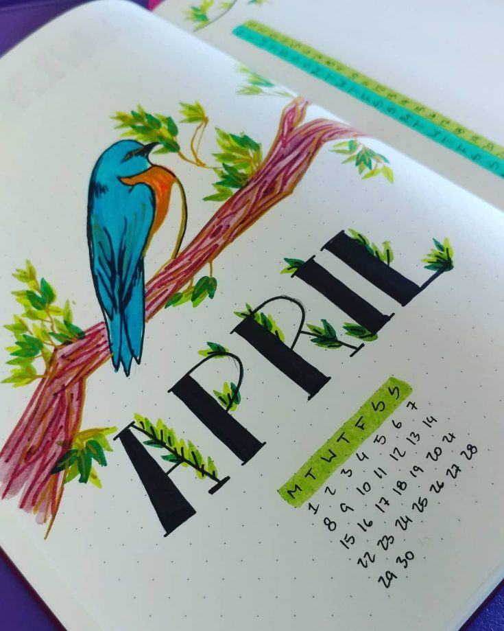 Bird on a Limb April Cover Page