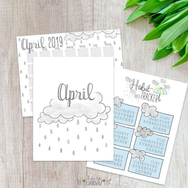 April Printable Planner Set