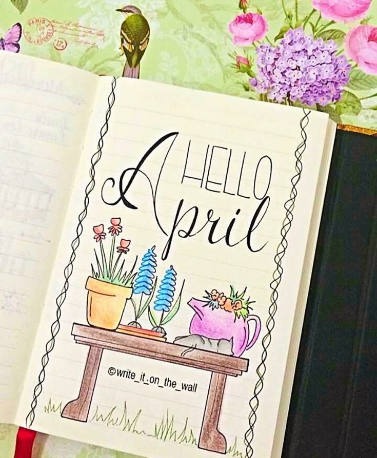 Hello April Spring Cover Theme