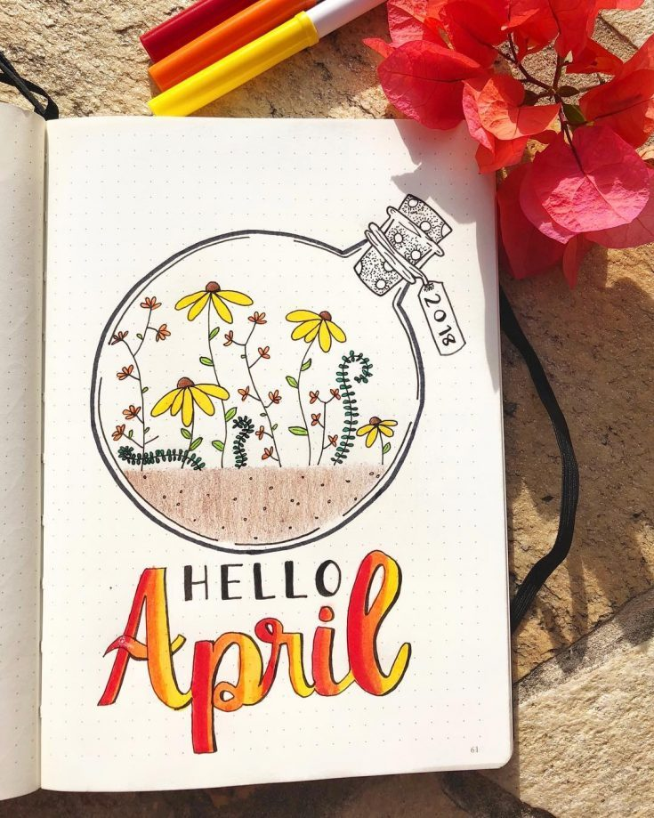 Hello April Floral Cover Design