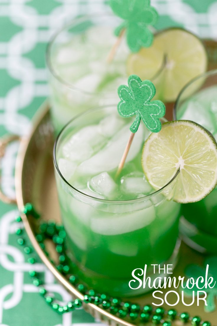 Shamrock Sour Cocktail