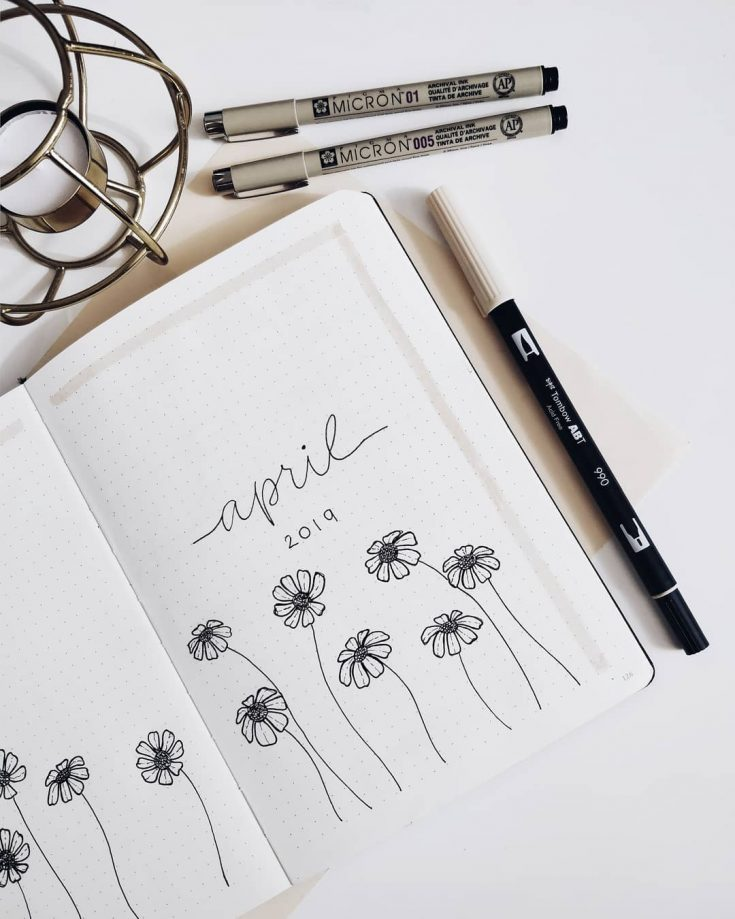 Super Simple April Floral Cover Page