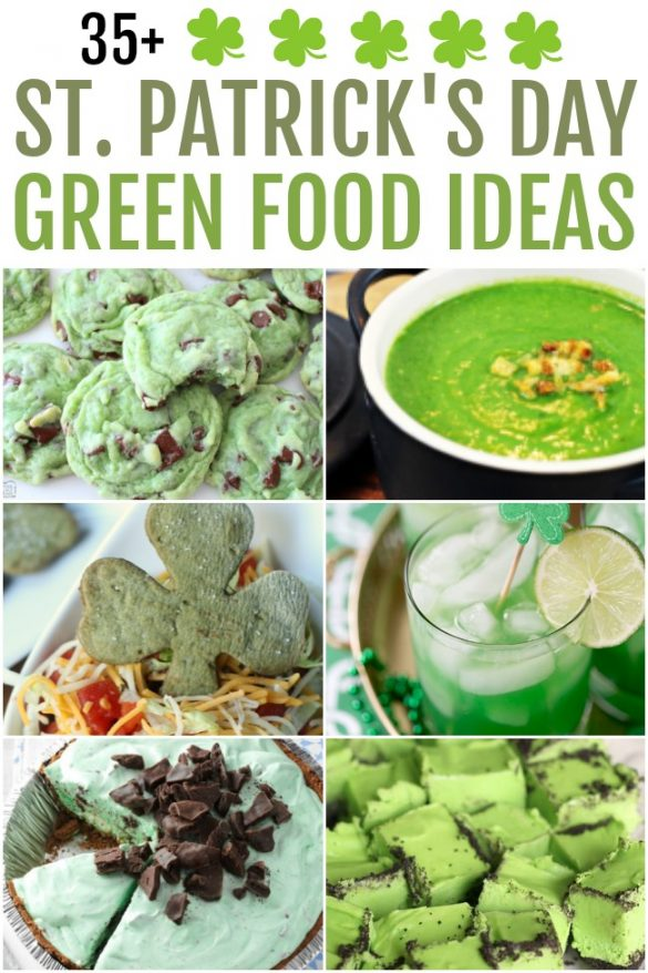 Celebrate St. Patrick's Day with fun and creative green food ideas. From breakfast to dinner and even dessert too! Loads of St. Patrick's Day party food and treat ideas.