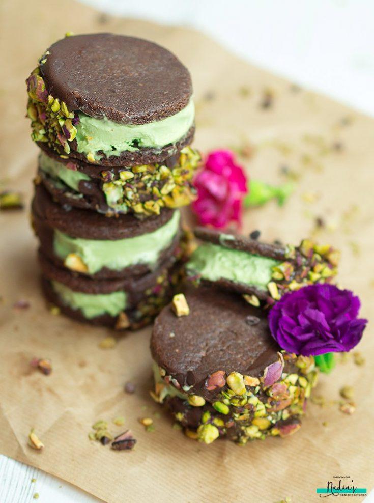Chocolate Matcha Ice Cream Sandwiches