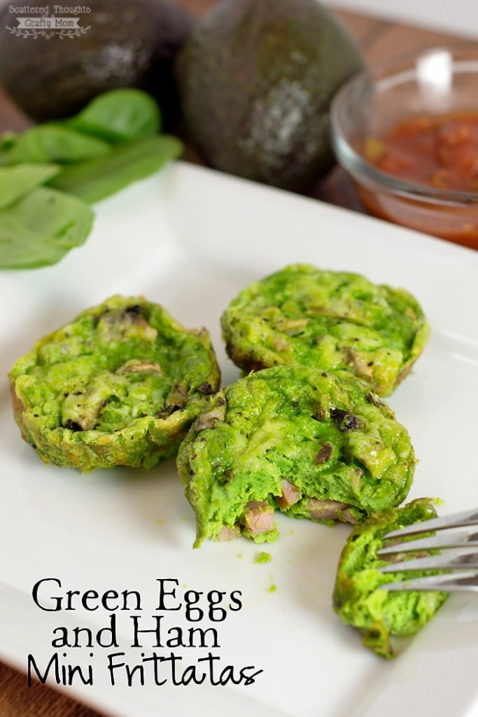 Green Eggs and Ham Mini Frittatas