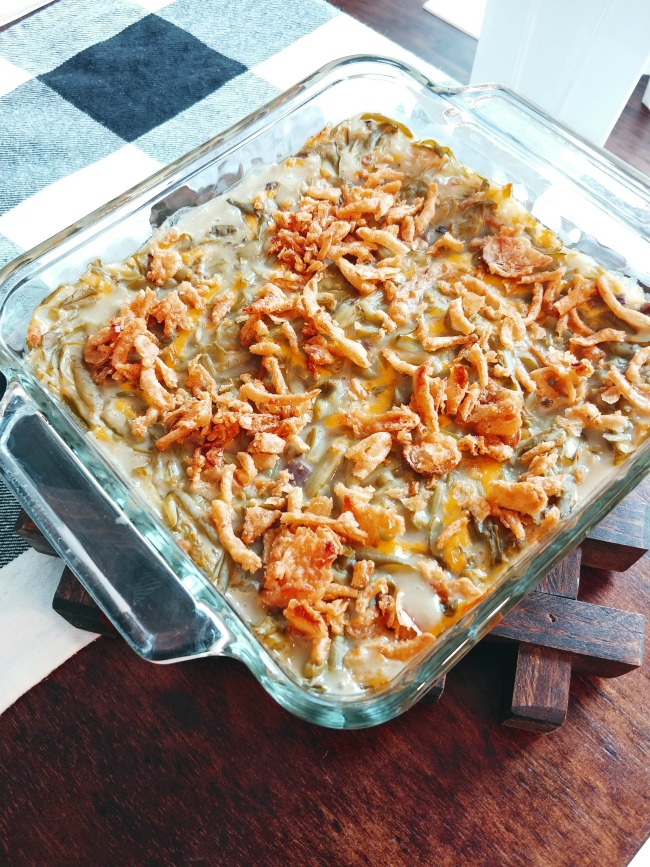 The best green bean casserole recipe you'll ever taste and the only one you will ever need. Made with only four simple delicious ingredients.