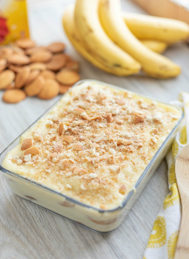 Classic southern homemade banana pudding starts with the crunchy layer of vanilla wafers, layered with perfectly ripe banana slices and covered in the best homemade vanilla pudding you have ever tasted.