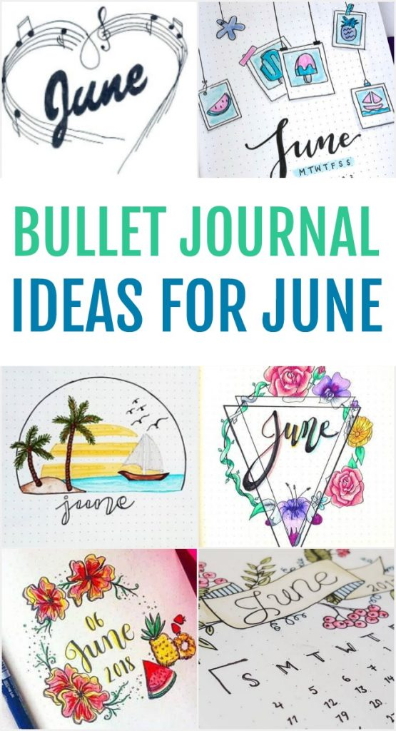 Ring in the summer season with these perfect June Bullet Journal Ideas. How to set up your bujo for June including calendar views and cover pages.