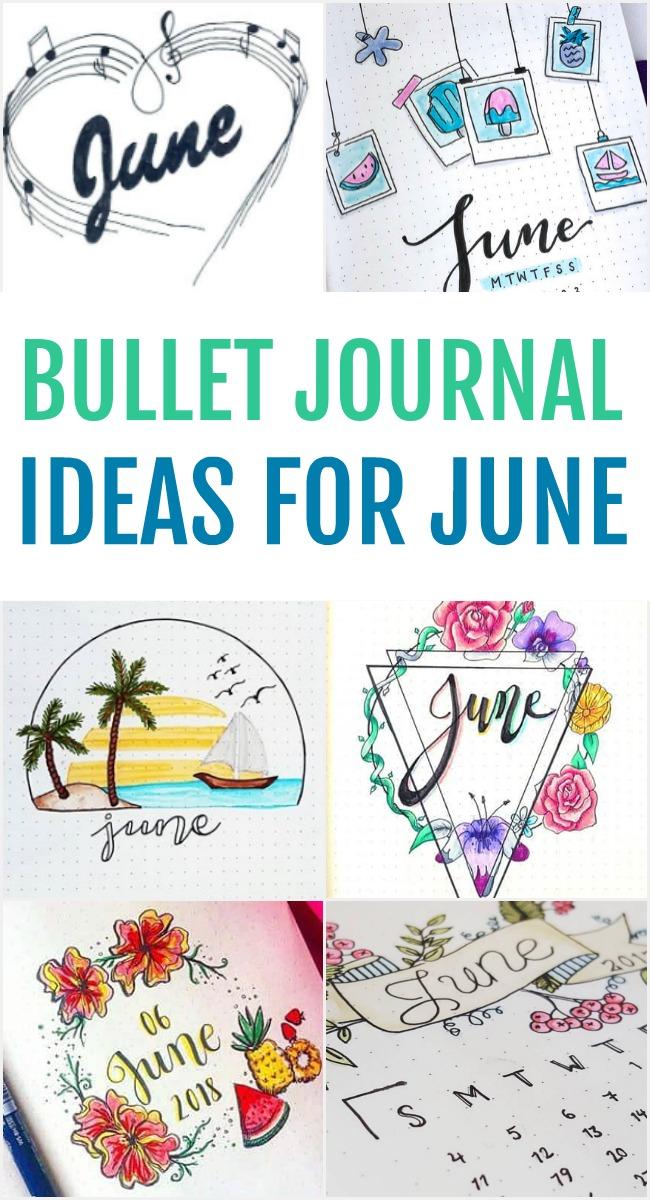 June Bullet Journal Ideas