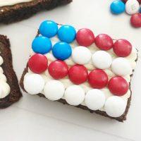 Patriotic Flag Brownies
