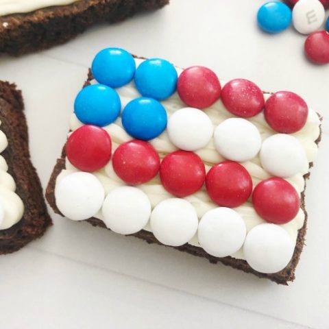 Patriotic Flag Brownies